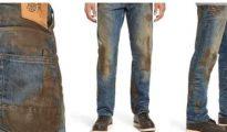 Con manchas de barro, la marca los vende en su pagina online y están disponible en las tiendas