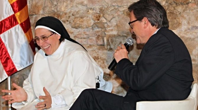 Lucía Caram y Artur Mas.