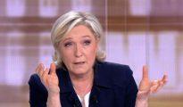 Marine Le Pen, durante el debate electoral televisado
