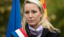 Marion Maréchal-Le Pen durante un mitin en Calais.