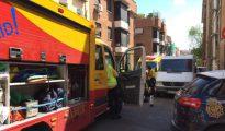 Los servicios de emergencias, este domingo, en el lugar del suceso