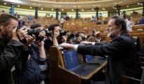 Mariano Rajoy, a su llegada al hemicíclo del Congreso de los Diputados donde hoy se celebra en el debate de los Presupuestos Generales del Estado de 2017.