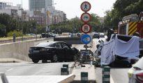 Foto del accidente en la avenida Tirso de Molina de Valencia