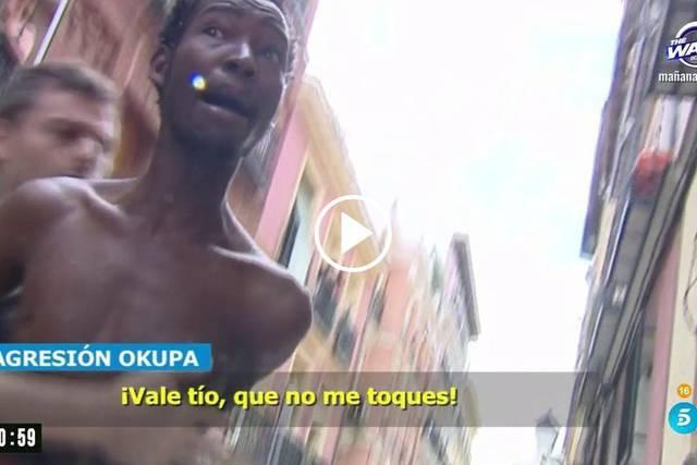 Imagen de uno de los agresores difundida por Telecinco