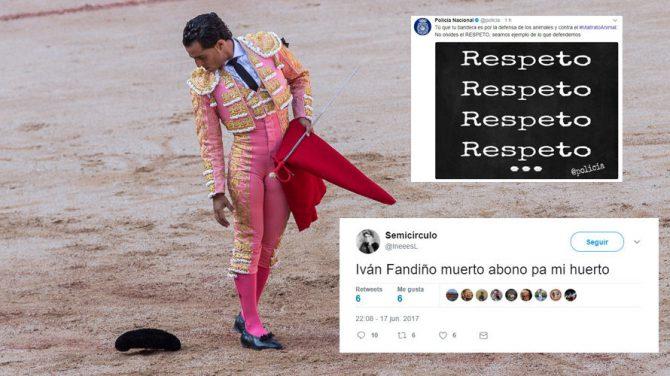 La Policía Nacional pide respeto en internet ante los salvajes comentarios vertidos contra Iván Fandiño tras su trágica muerte en una plaza de toros.
