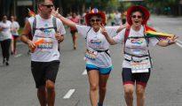 res participantes, en la Carrera por la Diversidad, en Madrid