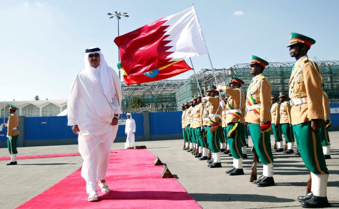 El emir de Catar, Tamim bin Hamad Al Thani
