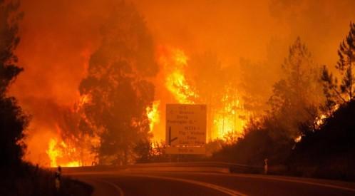 Las llamas en Pedrogao Grande, en el centro de Portugal