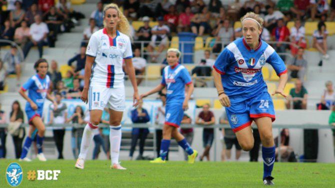 Elisa Mele durante un partido con el Brescia Calcio Femminile.
