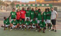 Equipo de fútbol sala compuesto por refugiados en Lucena