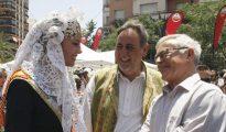 Imagen de Joan Ribó tomada este miércoles durante su visita a las Hogueras de Alicante