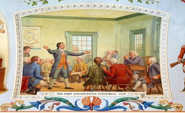 Mural del Primer Congreso Continental de 1774