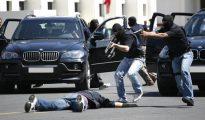 Imagen de la Policía marroquí en una de sus actuaciones.