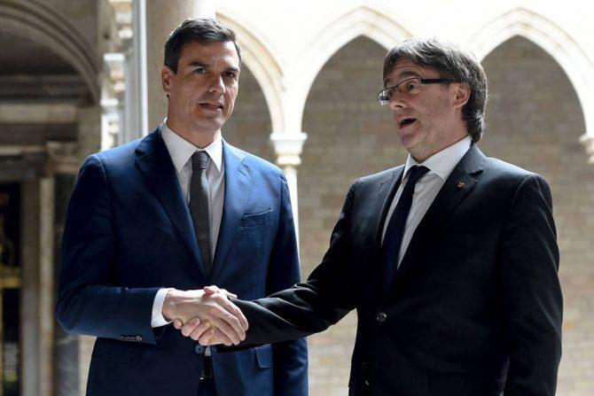 Sánchez y Puigdemont.