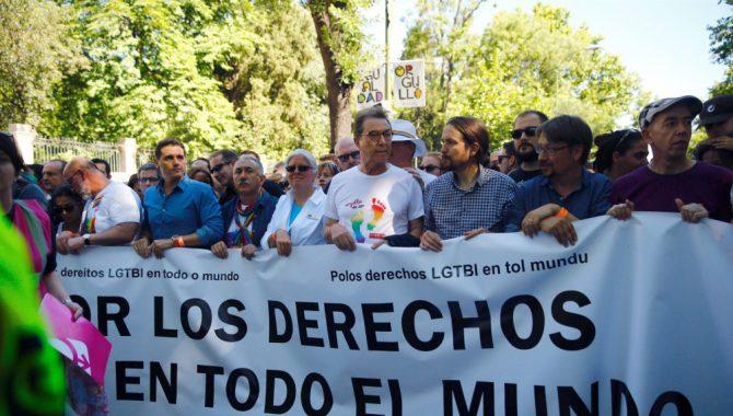 Cabecera de la manifestación del World Pride Madrid 2017