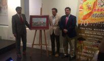 Juan Mora, Antonio Ferrera y Francisco Díaz, en la presentación del cartel de Melilla en Las Ventas