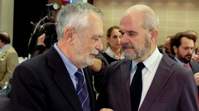 El PSOE de Andalucía ha creado una de las principales redes clientelares de Europa. En la imagen, Griñán y Chávez, dos de sus exlíderes.