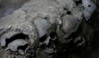 Cráneos encontrados cerca de Templo Mayor, Ciudad de México. 30 de junio de 2017