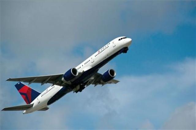Un avión de Delta Airlines sobrevuela China en 2013