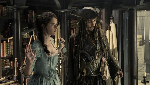 Escena de la última entrega de Piratas del Caribe