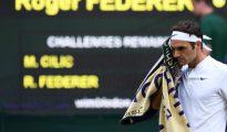 Roger Federer, durante su participación en la final de Wimbledon.