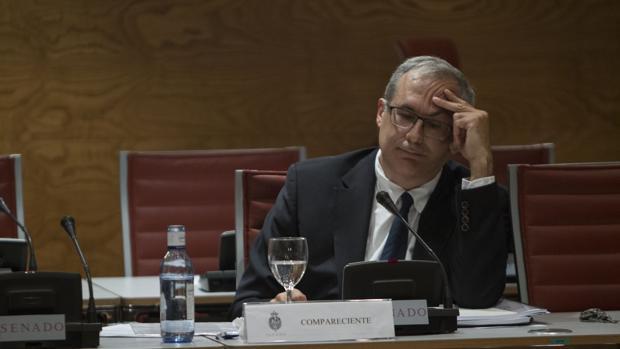 El exgerente del PSOE Gregorio Martínez comparece ante la comisión de investigación sobre financiación de partidos políticos del Senado.