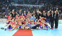 Los juveniles de España, campeones del mundo de balonmano.