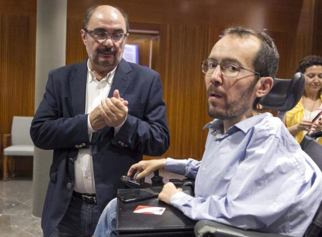 Javier Lambán (PSOE) y Pablo Echenique (Podemos). Aunque parezca mentira, estos dos mandan en Aragón.