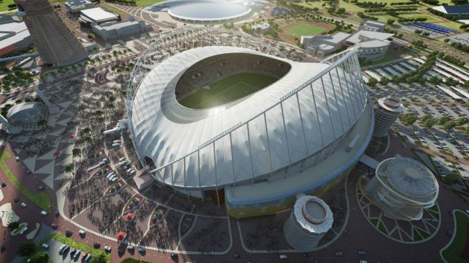 Maqueta del International Khalifa Stadium