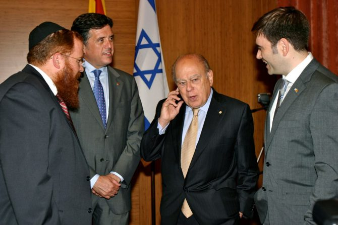 Jordi Pujol, segundo por la derecha, es un sionista declarado que ve en Israel el ejemplo a seguir y también al Estado que será el mejor amigo de una Cataluña independiente.