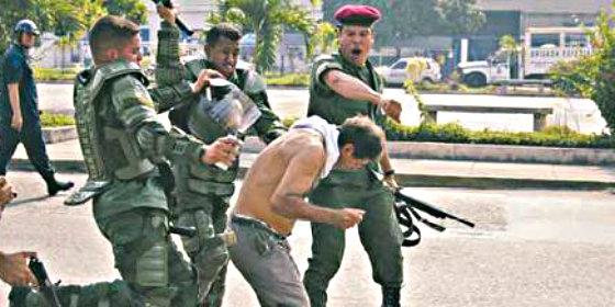 Represión contra el pueblo en Venezuela.