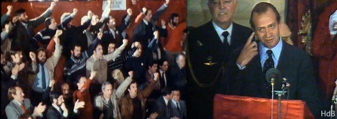 El Rey, abucheado en la Casa de Juntas de Gernika en 1981.