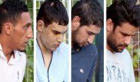 Los 4 terroristas detenidos, acudiendo a la Audiencia Nacional