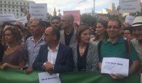 Carme Forcadell, Raül Romeva, Carles Campuzano y Mertixell Batet (Foto E-noticies)