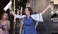 Juana Rivas sale de los juzgados de Granada.