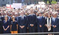 Minuto de silencio en homenaje a las víctimas del atentado de Barcelona.