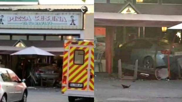 Un islamista empotró su coche el lunes contra una pizzería en la localidad de Sept-Sorts, en las afueras de París y provocó la muerte de una niña y siete heridos.