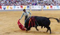 Enrique Ponce, durante la corrida picassiana de Málaga