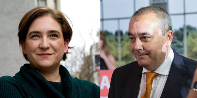 Ada Colau, alcaldesa de Barcelona y Armando Robles, fundador de SOLUCIONA y director de AD.