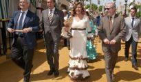 La flamenca Susana Díaz en la Feria de Sevilla.