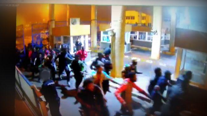 Entrada masiva de ilegales en Ceuta el pasado lunes