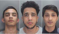 Los tres atacantes.