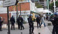Una calle de Toulouse, tomada por la policía.