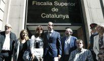 El alcalde de Mollerusa (Lleida) , el diputado en el Parlament Marc Solsona y Carme Forcadell