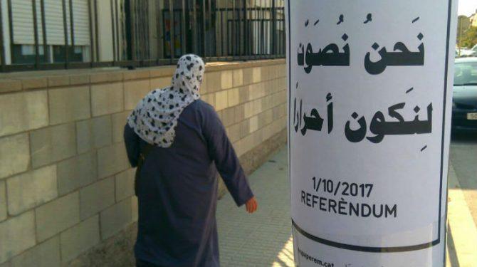 """""""Votemos para ser libres"""" en árabe, en Salt"""