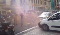 Proetarras atacan un tren turístico en San Sebastián