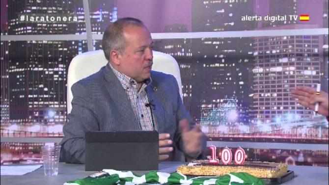 Gerard Bellalta, durante la emisión del programa cien de 'La ratonera'.