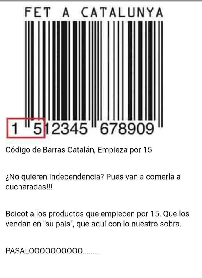 codigo% - Ya empieza el boicot a los productos catalanes