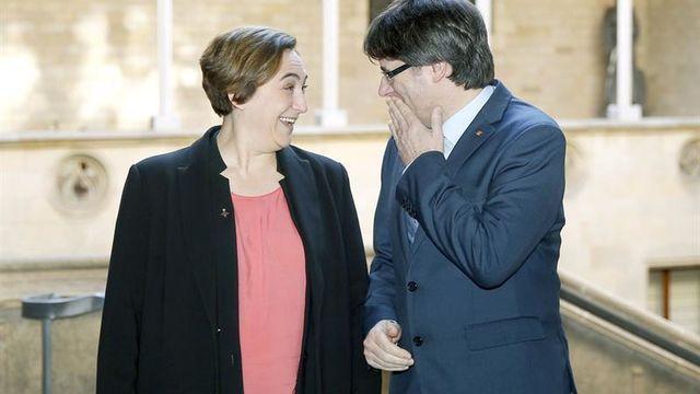 Colau y Puigdemont.
