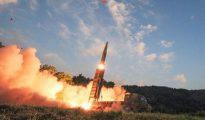Corea del Sur probó este lunes un sistema de misiles ante las amenazas del régimen de Kim Jong-un.